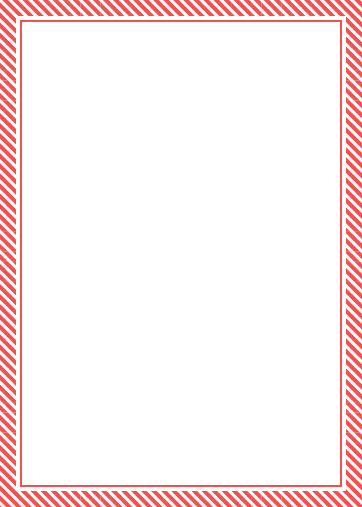 Red Candy Cane Stripe (Thick) Border (Free) – Christmas HQ