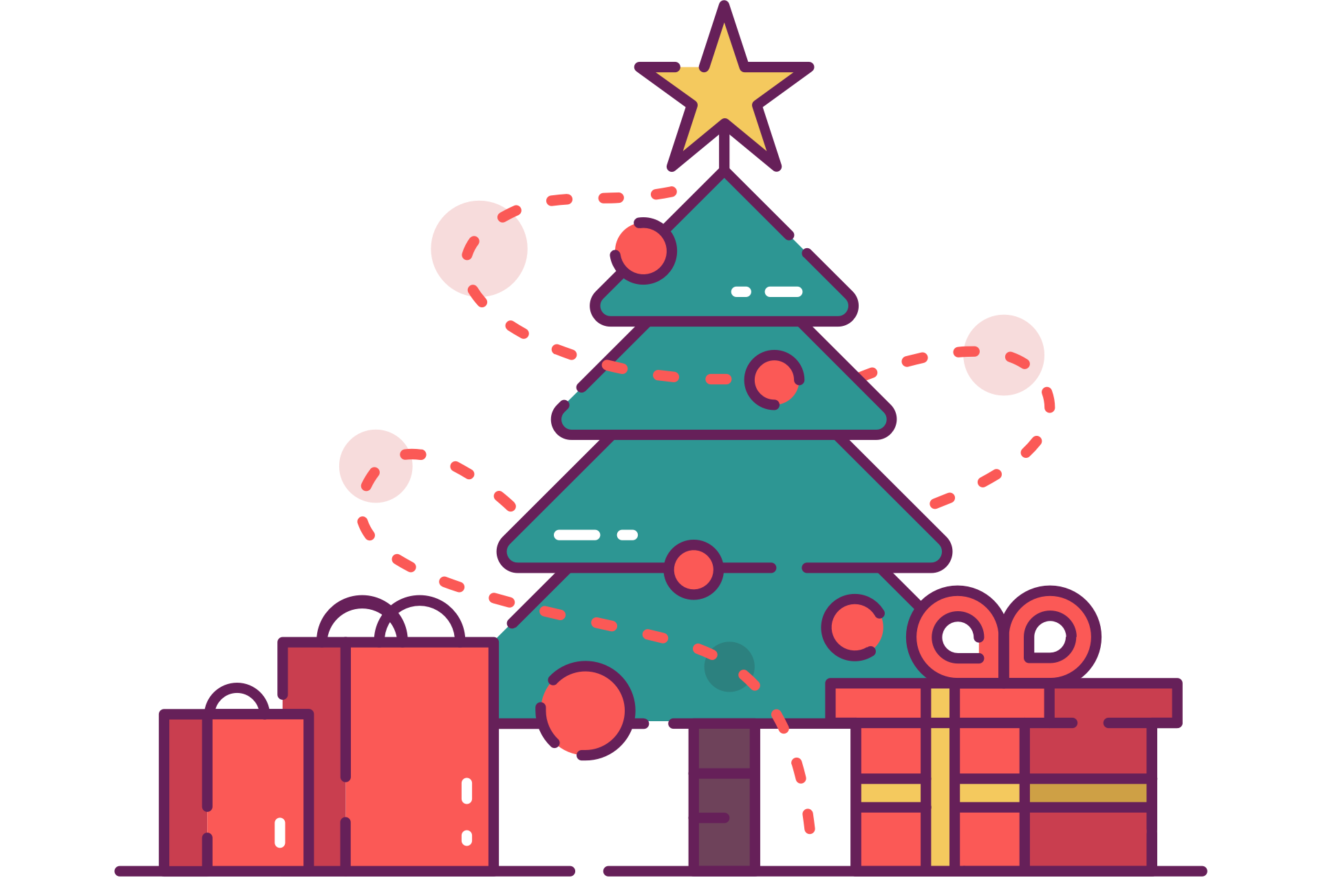 Christmas Tree with Presents Clip Art (Free) – Christmas HQ