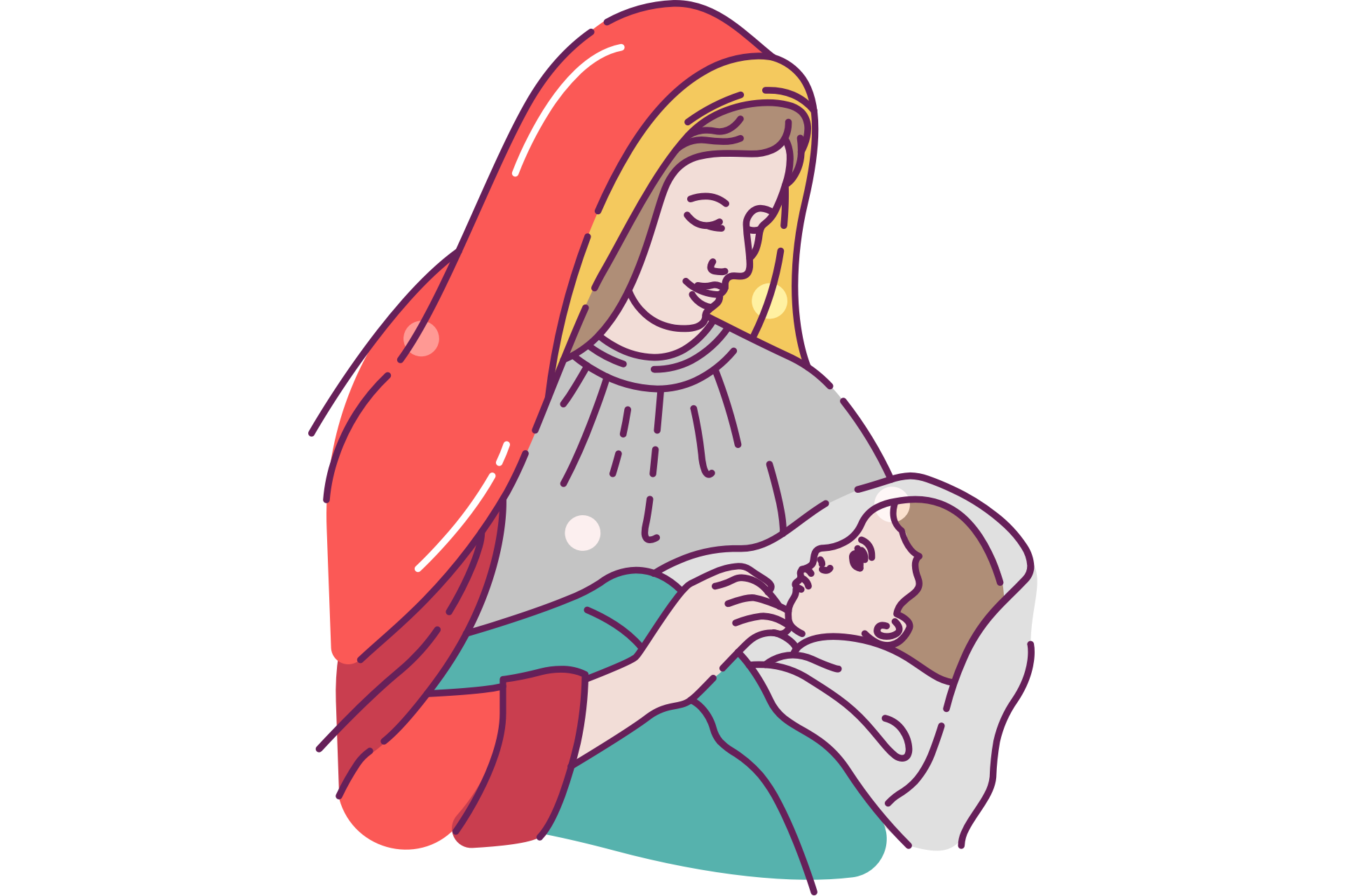 Mary With Baby Jesus Clip Art Free Christmas Hq